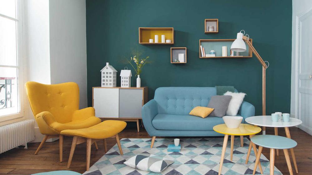 décoration salon vintage années 50