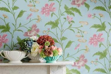 papier peint fleur vintage