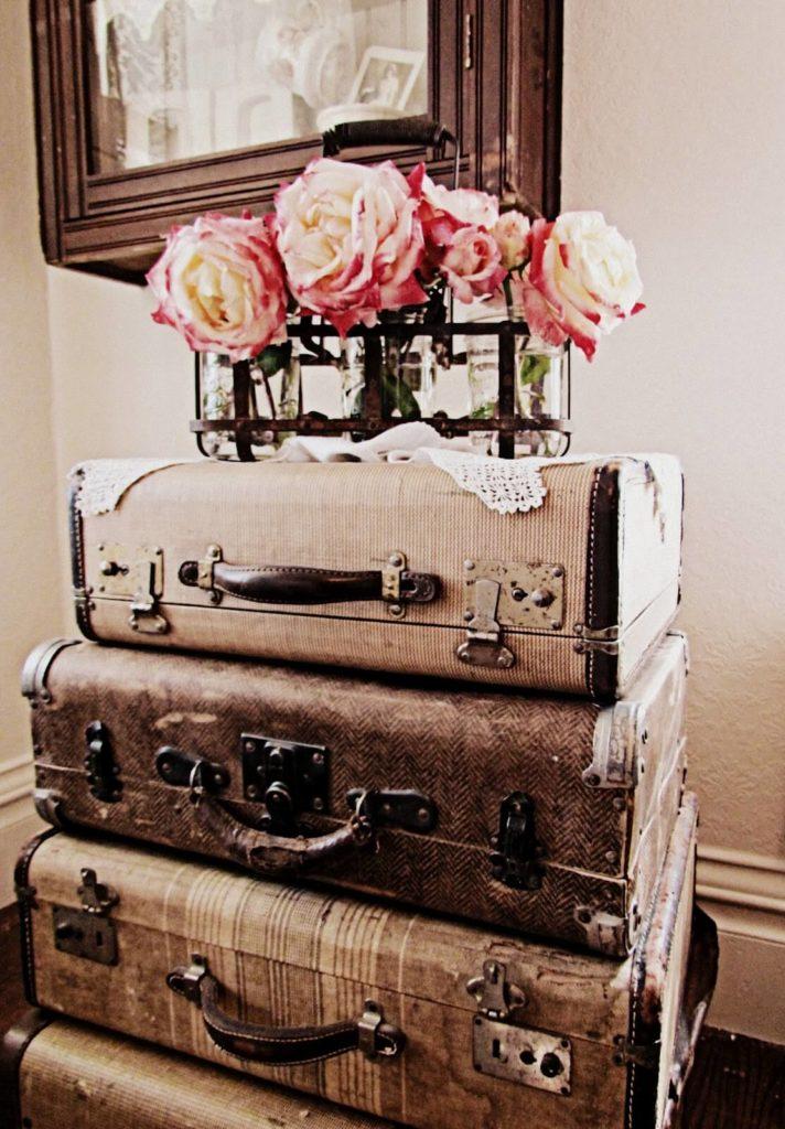 décoration vintage malle