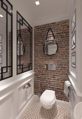 toilette rouge et blanc