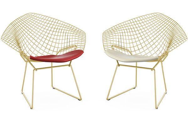 Fauteuils diamond chair Harry Bertoia