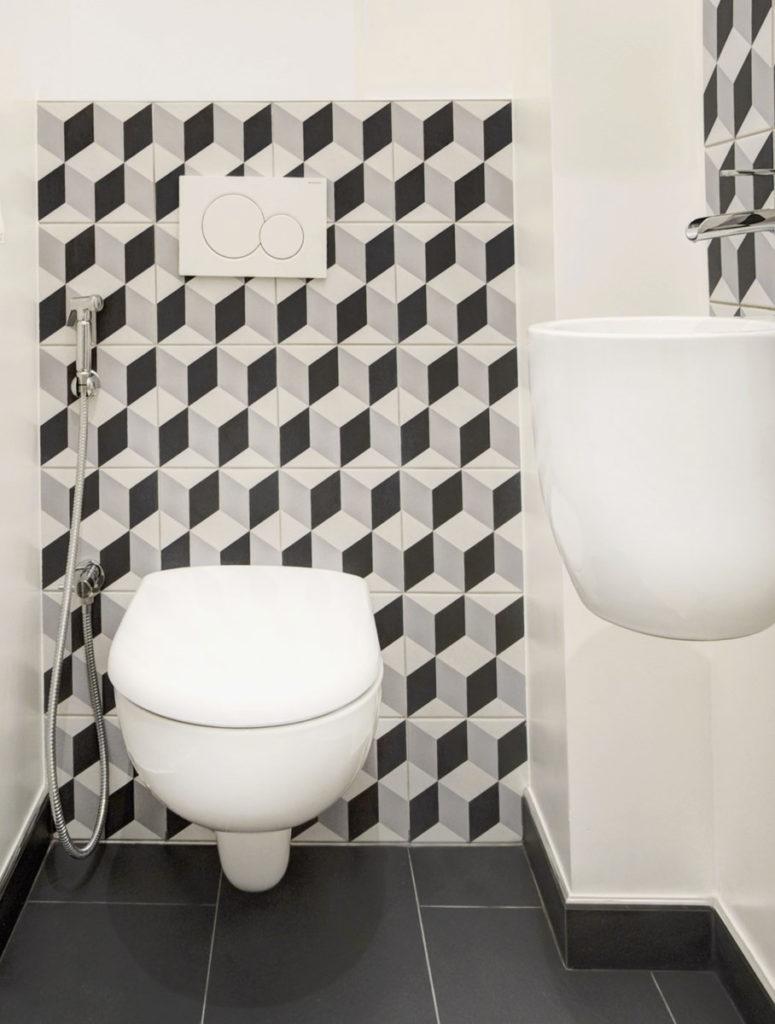 Carreau De Ciment Toilette idées toilettes : vos wc deviennent un espace déco -
